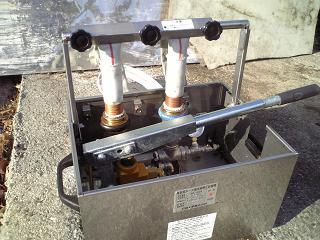 消防ホース耐圧試験器